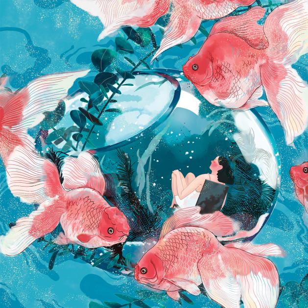 Illustration of goldfish