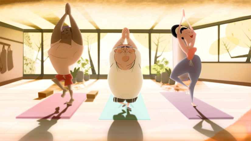 """Play video of """"Namastay With Me"""" by Margo Pierce SCAD animation student work"""