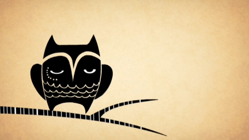 Animation student work, Ollie the Day Owl by Allie Rotenburg