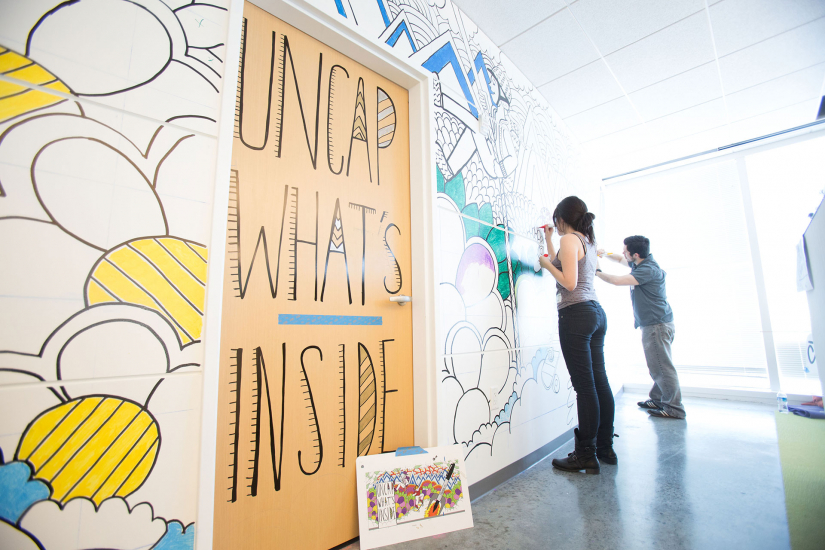 Scad makes permanent mark on newell rubbermaid s global headquarters during live art - Newell rubbermaid atlanta office ...