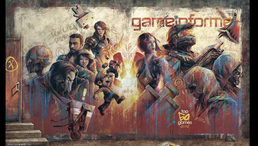Sam Sprrat illustration, Game Informer