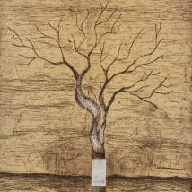 Etching of a tree