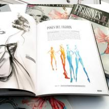 "Spanish fashion illustration book ""Figurines de Moda"" features Lara Wolf, Mengjie Di"