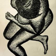 Courtney Davis Image 1, printmaking, out to launch 2014